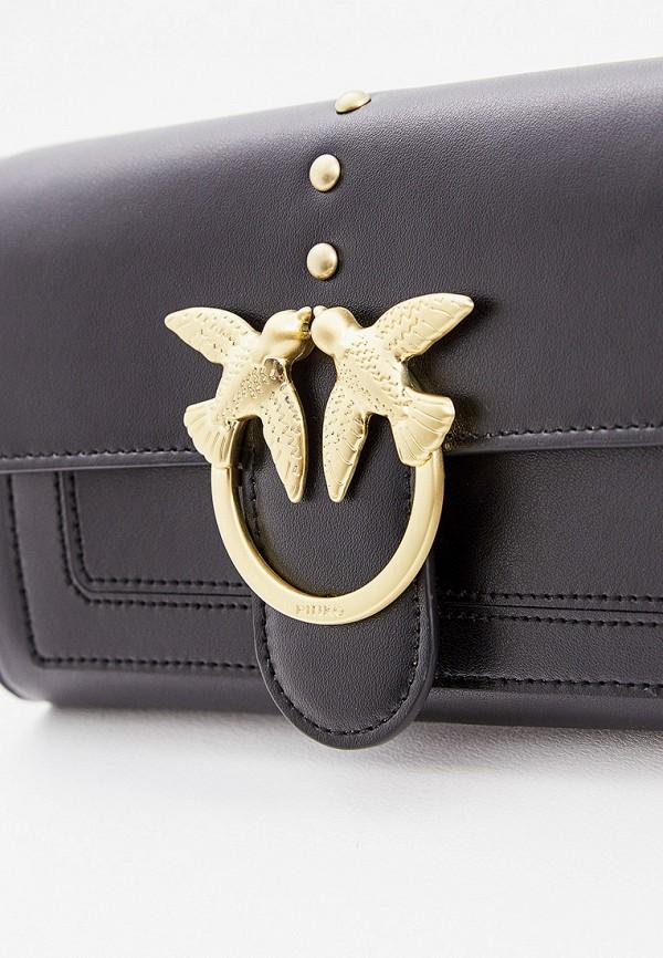 Фото 3 - женскую сумку Pinko черного цвета