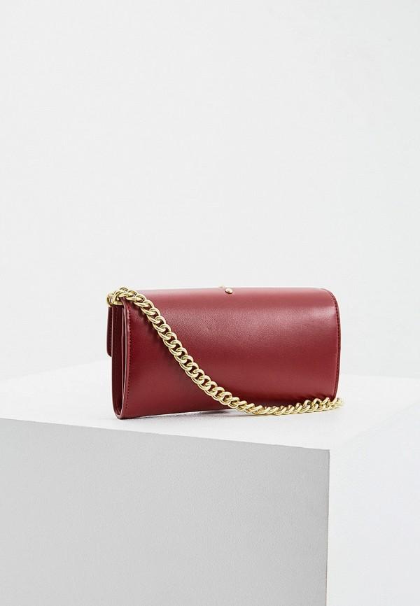Фото 2 - женскую сумку Pinko красного цвета