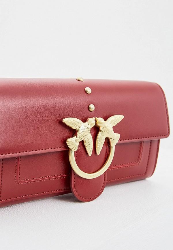 Фото 3 - женскую сумку Pinko красного цвета