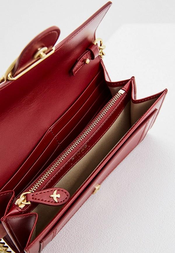 Фото 4 - женскую сумку Pinko красного цвета
