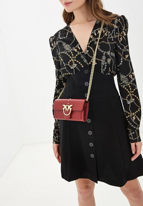 Фото 5 - женскую сумку Pinko красного цвета