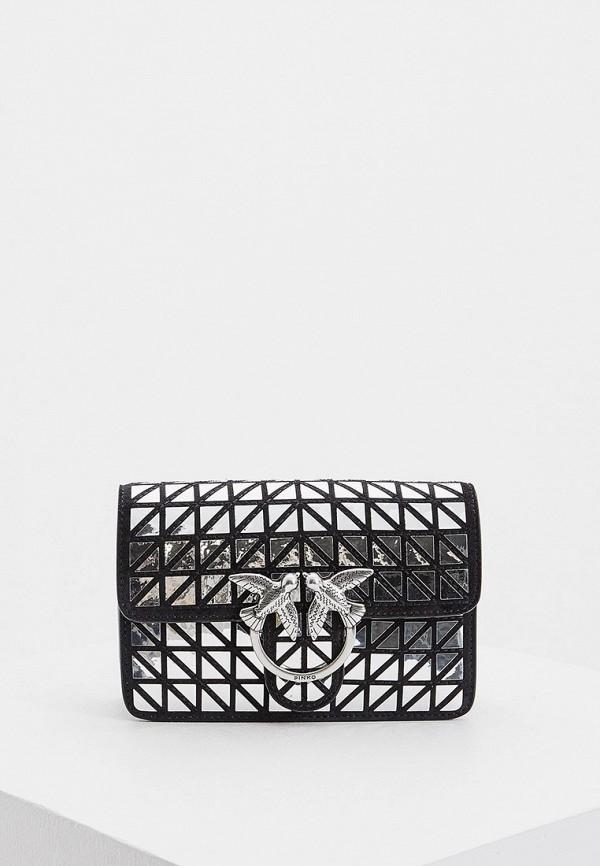 Фото - женскую сумку Pinko серебрянного цвета