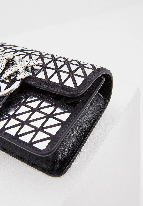 Фото 3 - женскую сумку Pinko серебрянного цвета