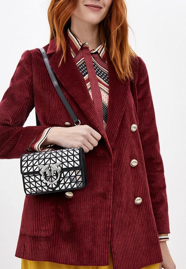 Фото 5 - женскую сумку Pinko серебрянного цвета