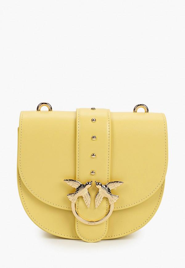 женская сумка pinko, желтая