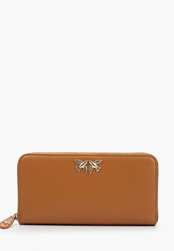 женский кошелёк pinko, коричневый