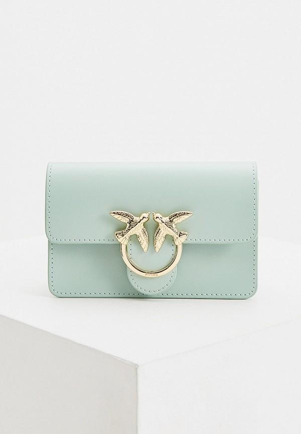 женская сумка pinko, зеленая