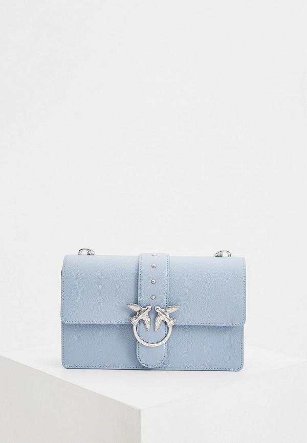 женская сумка pinko, голубая