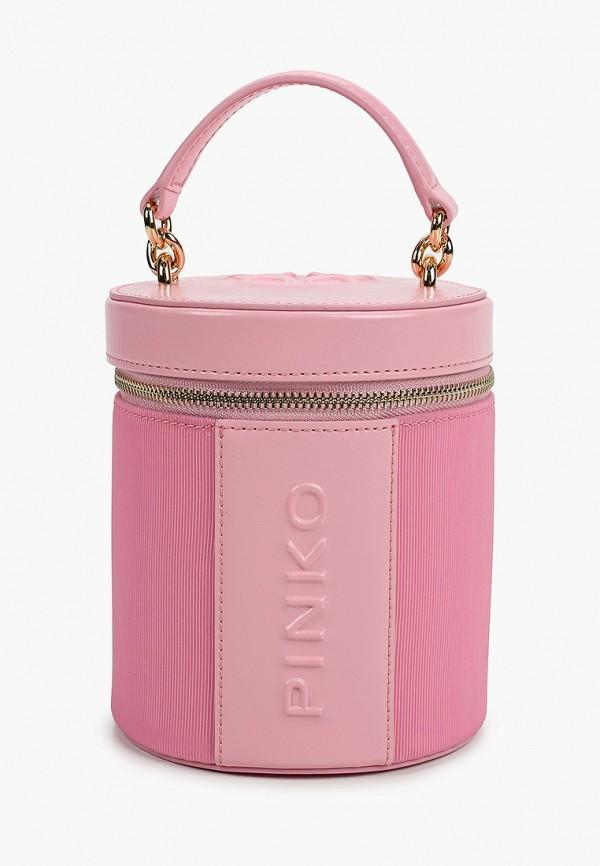 женская сумка pinko, розовая