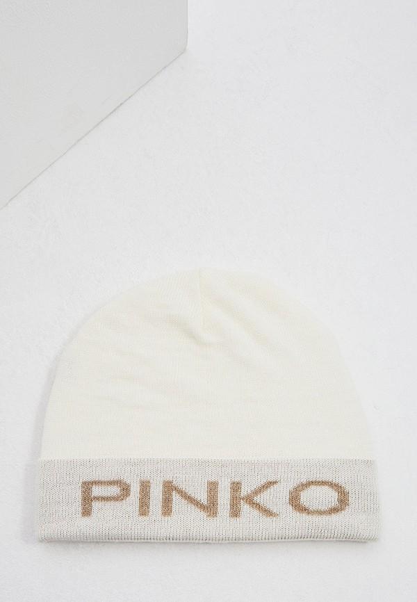 женская шапка pinko, белая