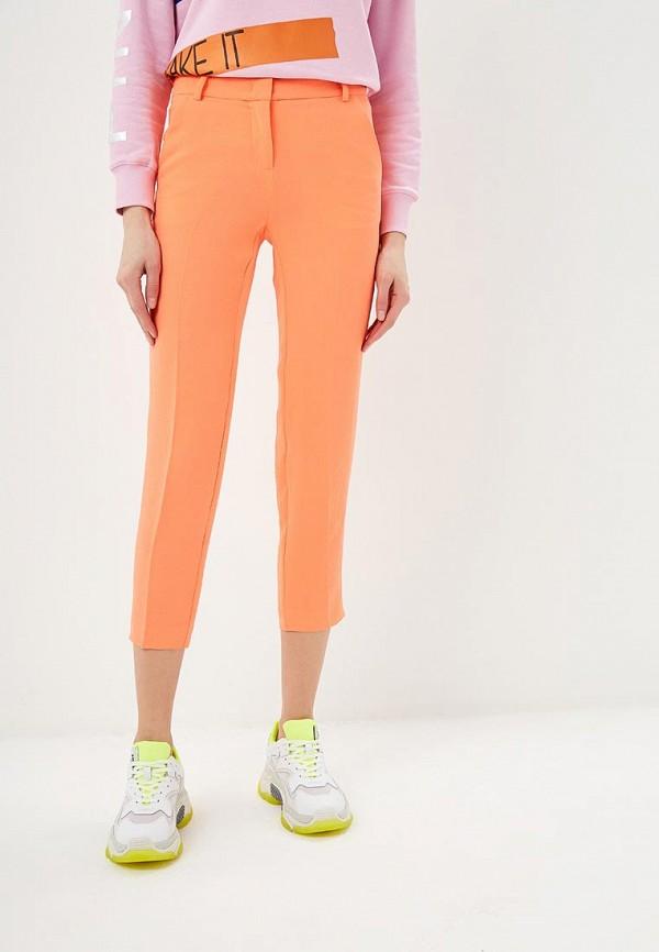 женские классические брюки pinko, оранжевые