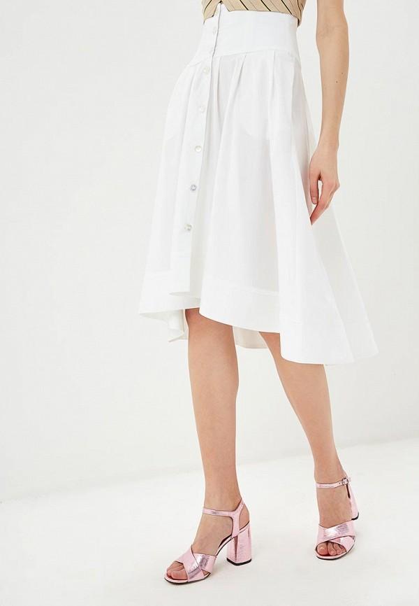 женская юбка pinko, белая