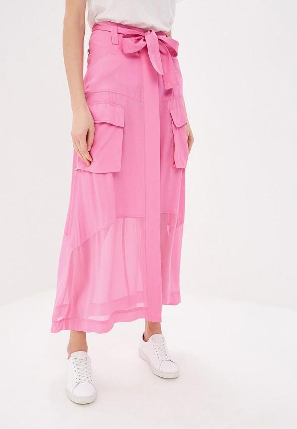 женская юбка pinko, розовая