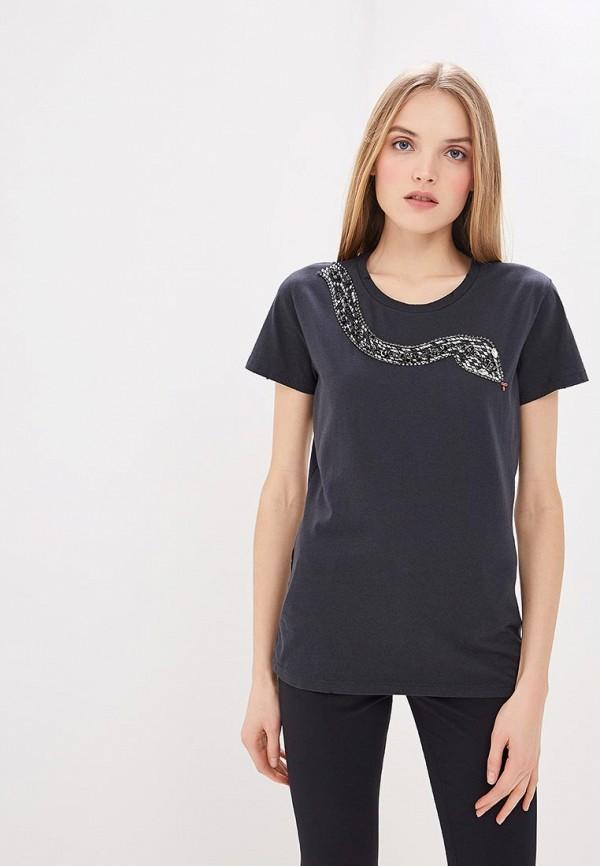 женская футболка pinko, черная