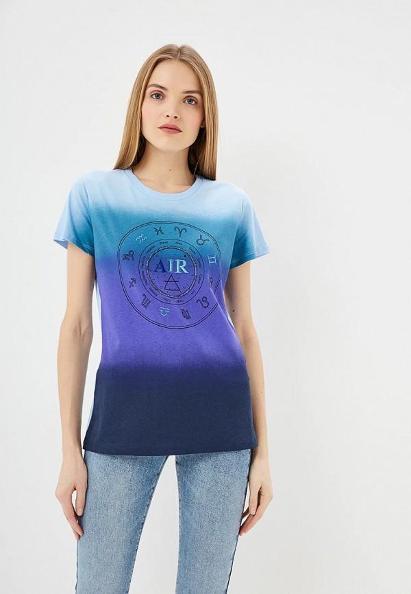 женская футболка pinko, голубая