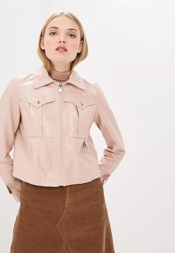 женская куртка pinko, розовая
