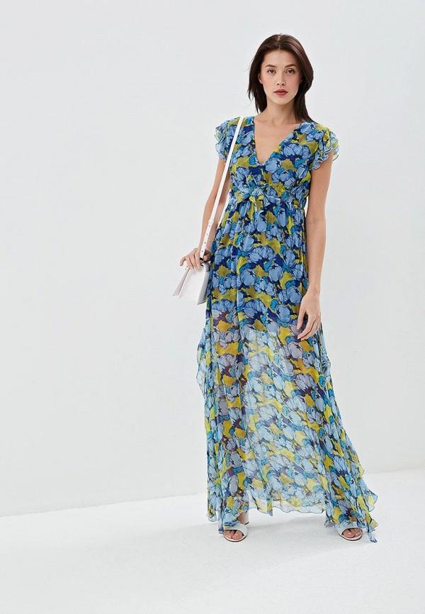 женское повседневные платье pinko, голубое