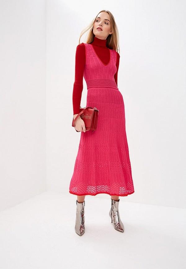 женское повседневные платье pinko, розовое