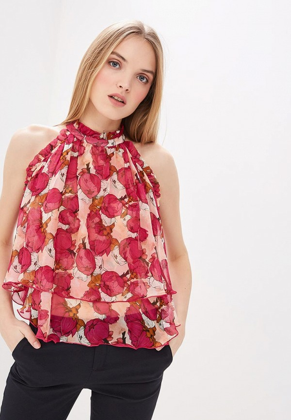 женская блузка pinko, розовая