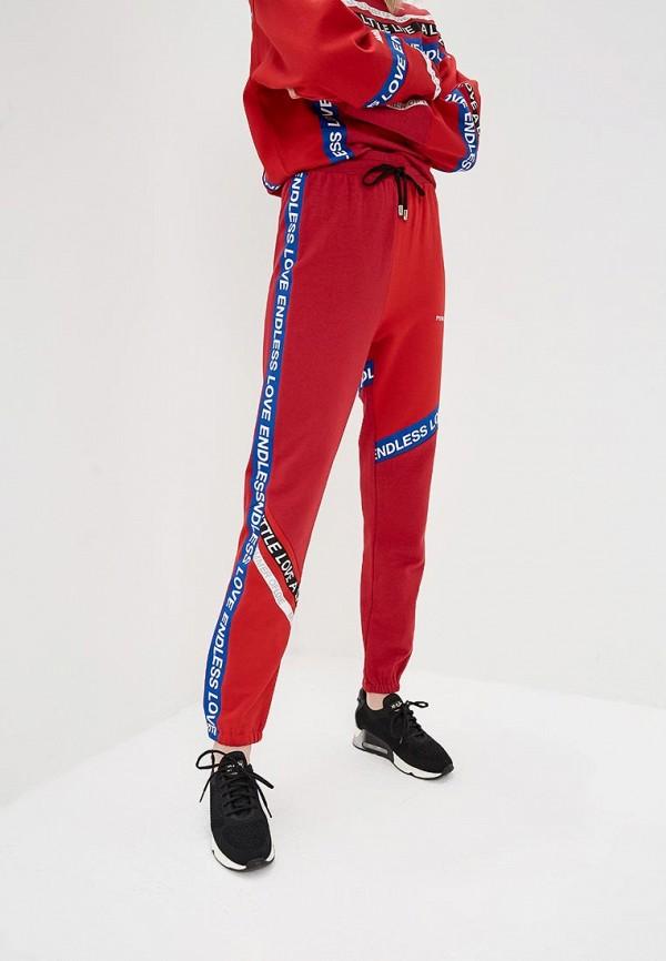 женские спортивные спортивные брюки pinko, красные