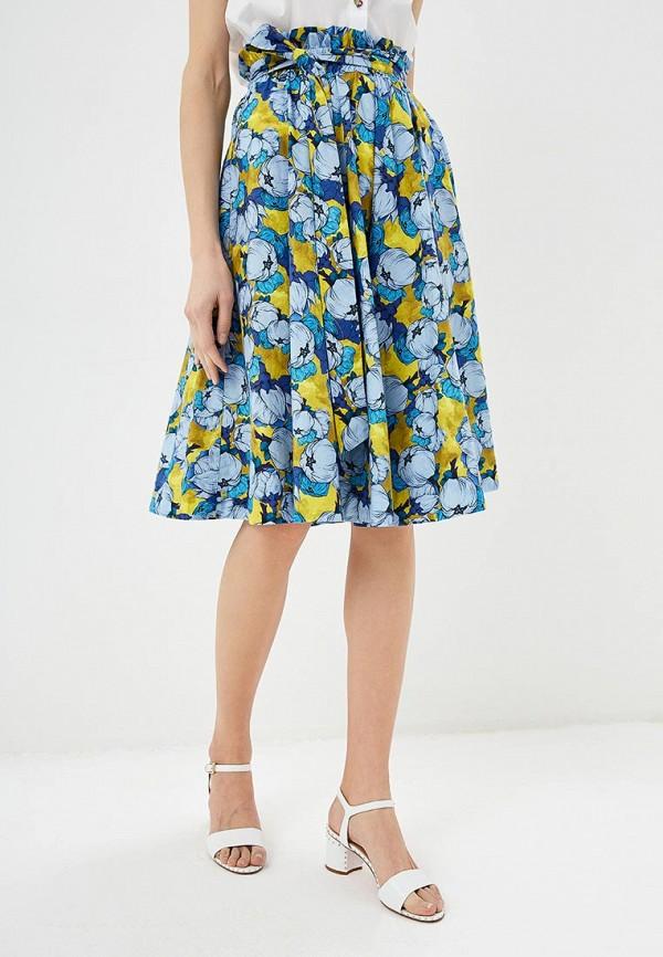женская юбка pinko, синяя
