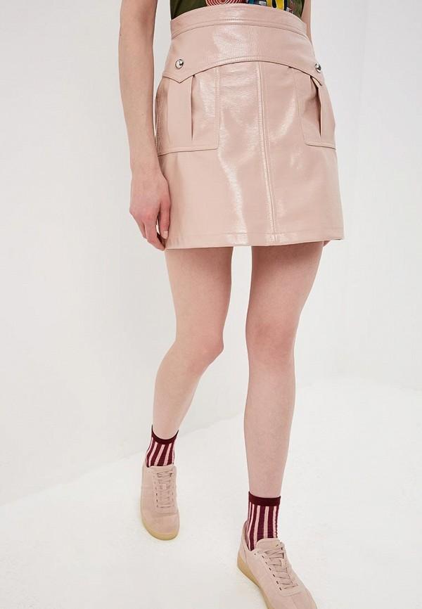 женская юбка pinko, бежевая