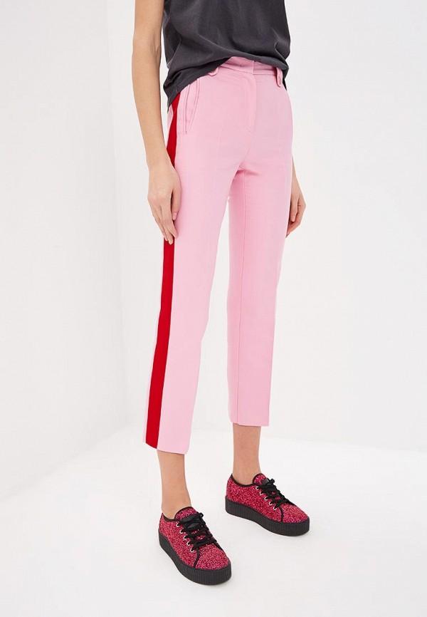женские повседневные брюки pinko, розовые