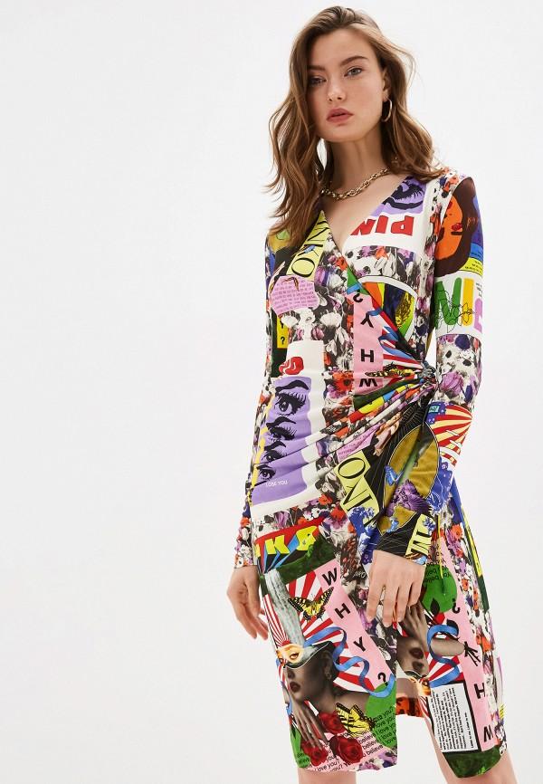 женское платье pinko, разноцветное