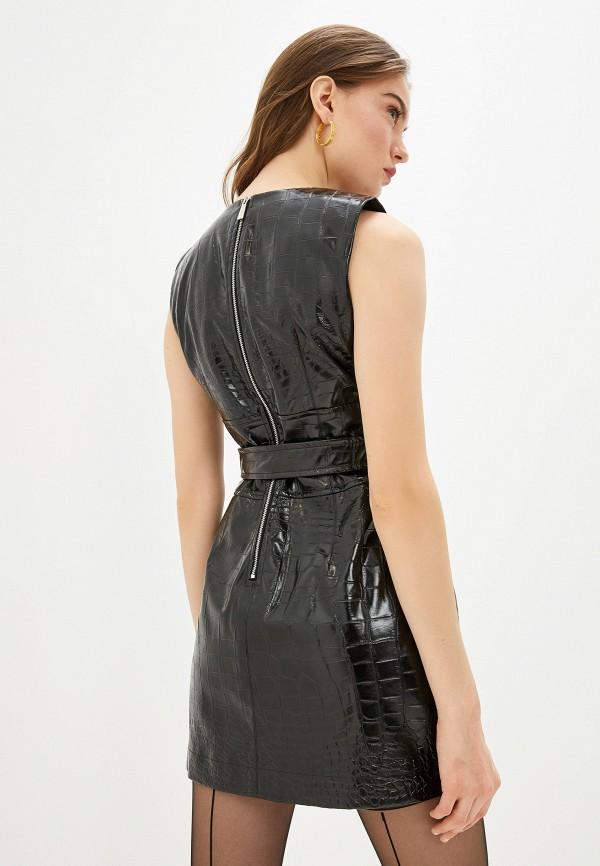 Фото 3 - женское платье Pinko черного цвета