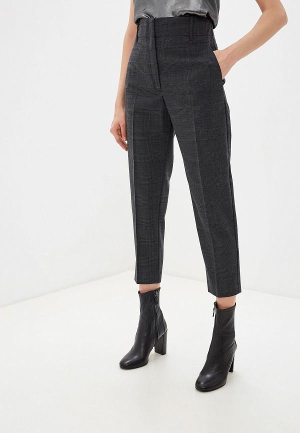 женские классические брюки pinko, серые