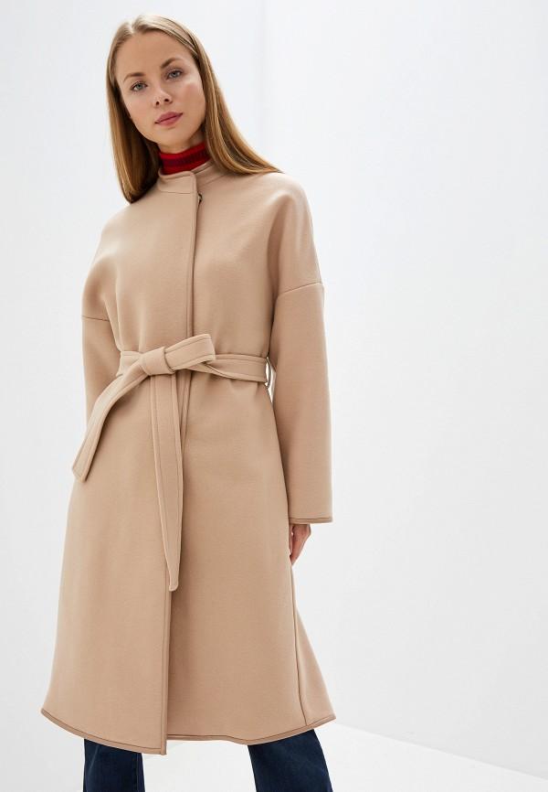 женское пальто pinko, бежевое