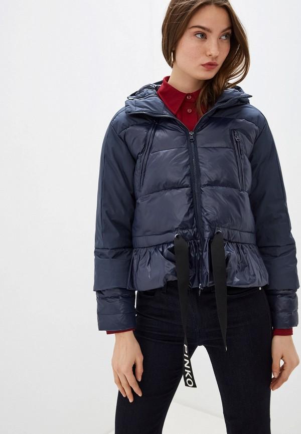 женская куртка pinko, синяя