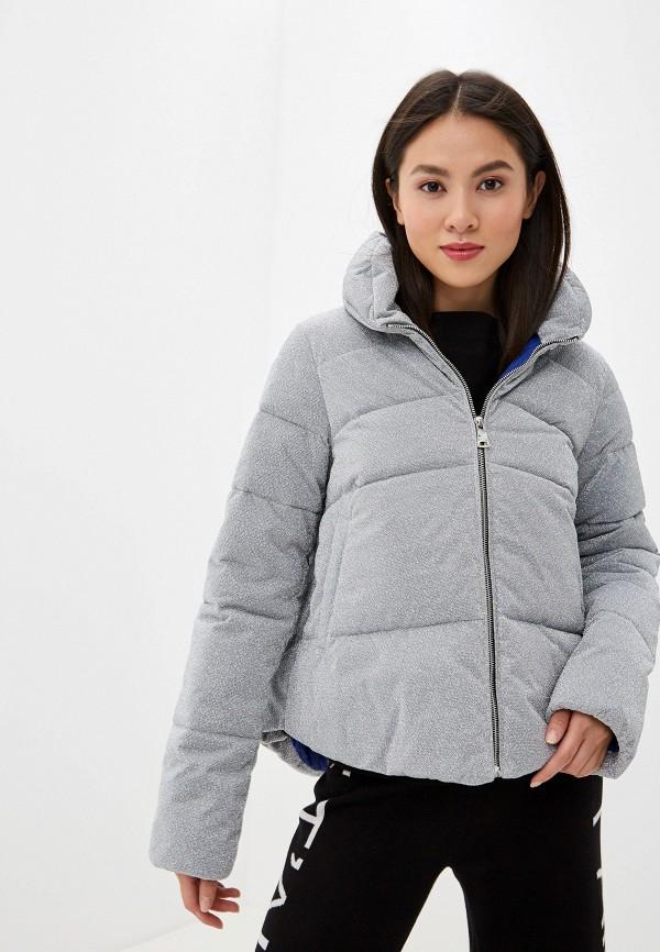 женская куртка pinko, серебряная