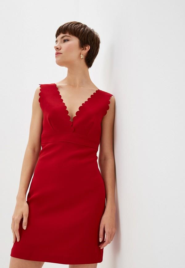 женское вечерние платье pinko, красное