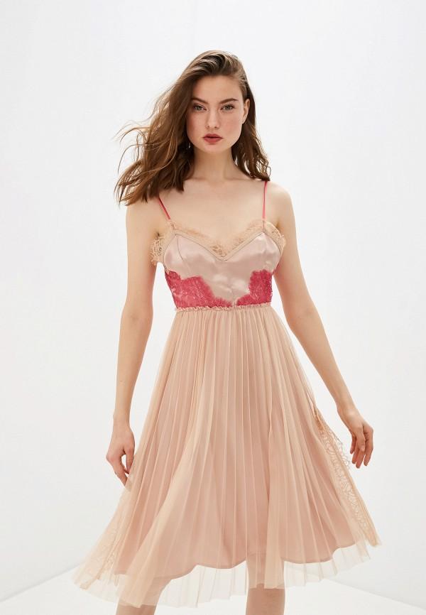 женское платье pinko, розовое