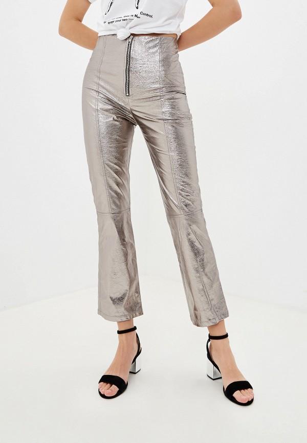 женские брюки pinko, серебряные