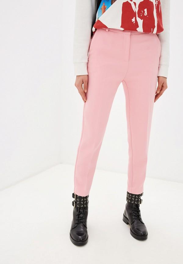 женские классические брюки pinko, розовые