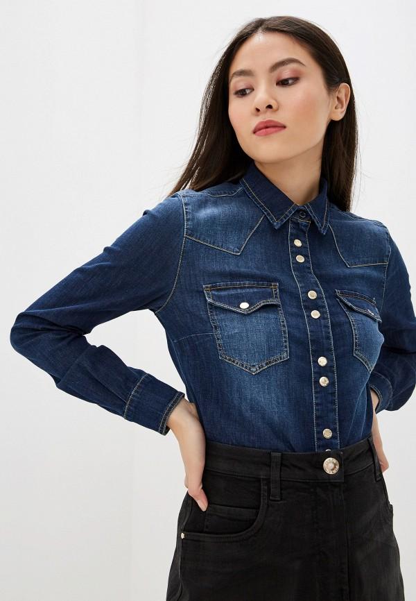 Рубашка джинсовая Pinko Pinko PI754EWFTYT7 fu shen virtue основной цвет тяжелой воды мыть чистого хлопка тонкая джинсовая рубашка мужской ycf71013 синий 42 175 100