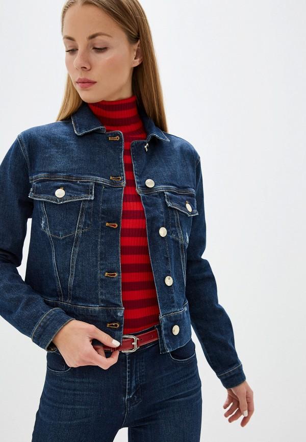 женская джинсовые куртка pinko, синяя