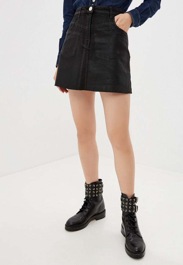 женская джинсовые юбка pinko, черная