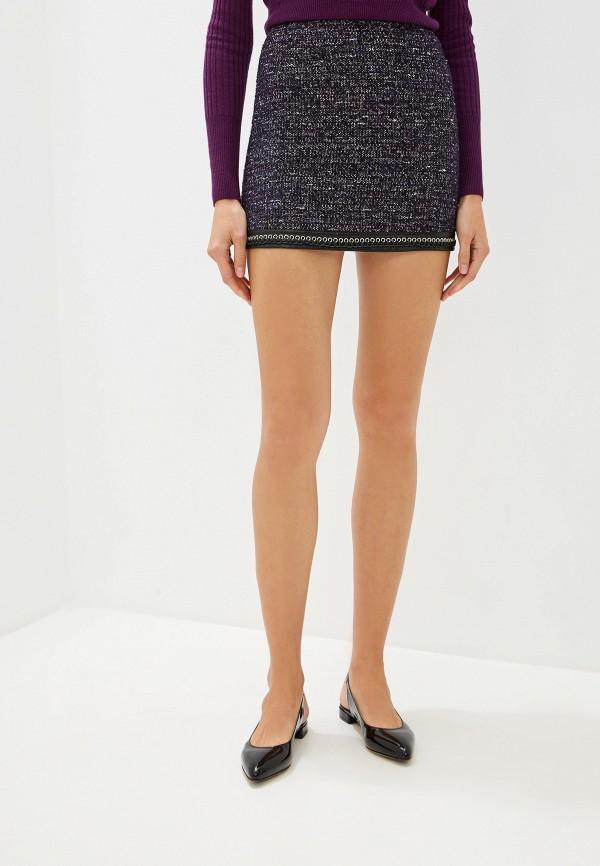 женская юбка pinko, фиолетовая