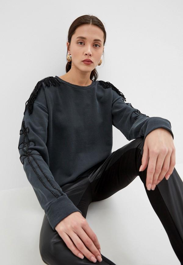женский свитшот pinko, серый
