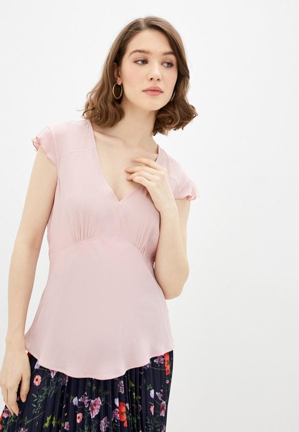 женский топ pinko, розовый