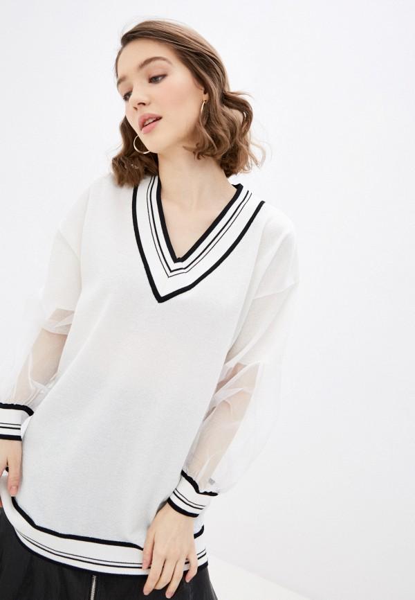женский пуловер pinko, белый