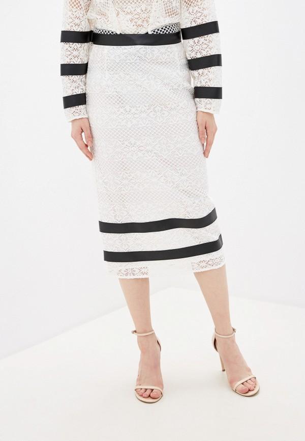 женская прямые юбка pinko, белая