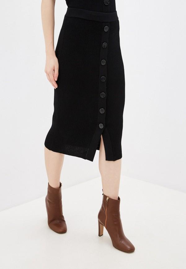 женская зауженные юбка pinko, черная