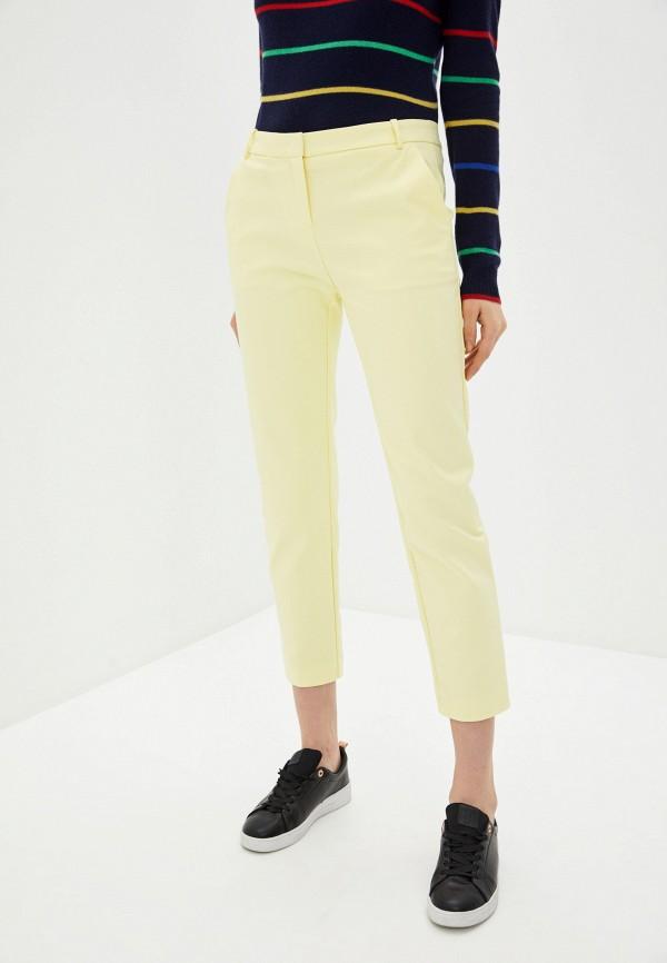 женские классические брюки pinko, желтые
