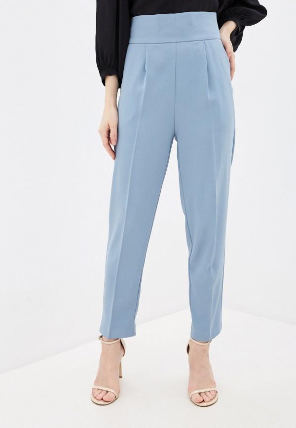женские классические брюки pinko, голубые