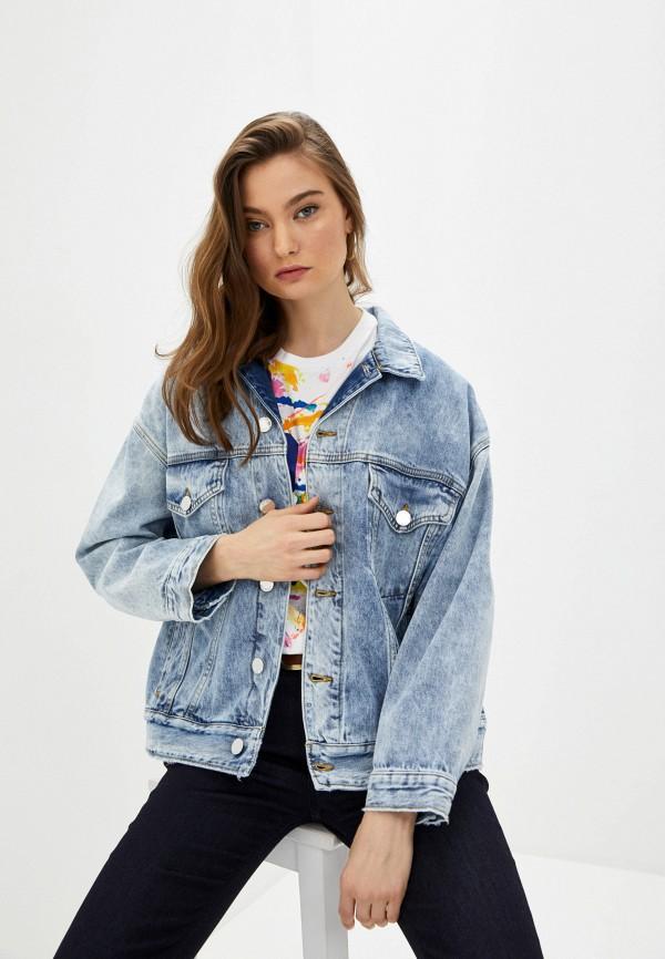 женская джинсовые куртка pinko, голубая