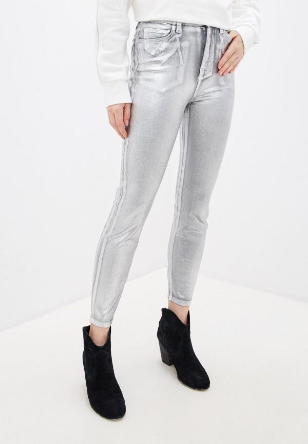 женские джинсы pinko, серебряные